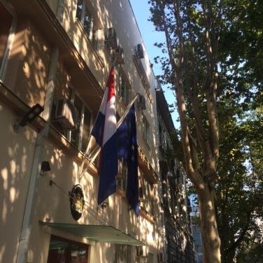 De Nederlandse Ambassade in Belgrado.