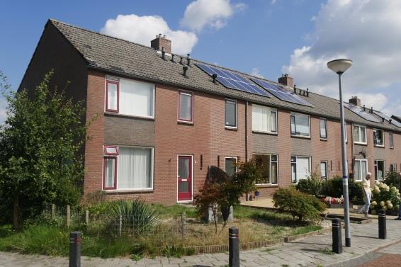 Woningen in de Molukse wijk in Bovensmilde.