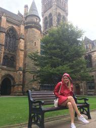 Ayla op de University of Glasgow